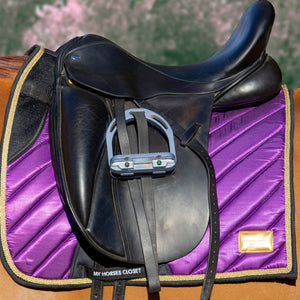 Satin Mesh Dressage Saddle Pad Amboise Plum Purple