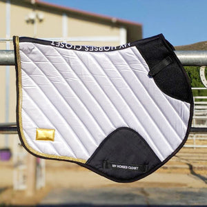 Jumping AP Saddle Pad Satin Amboise Collection ⚜️ White