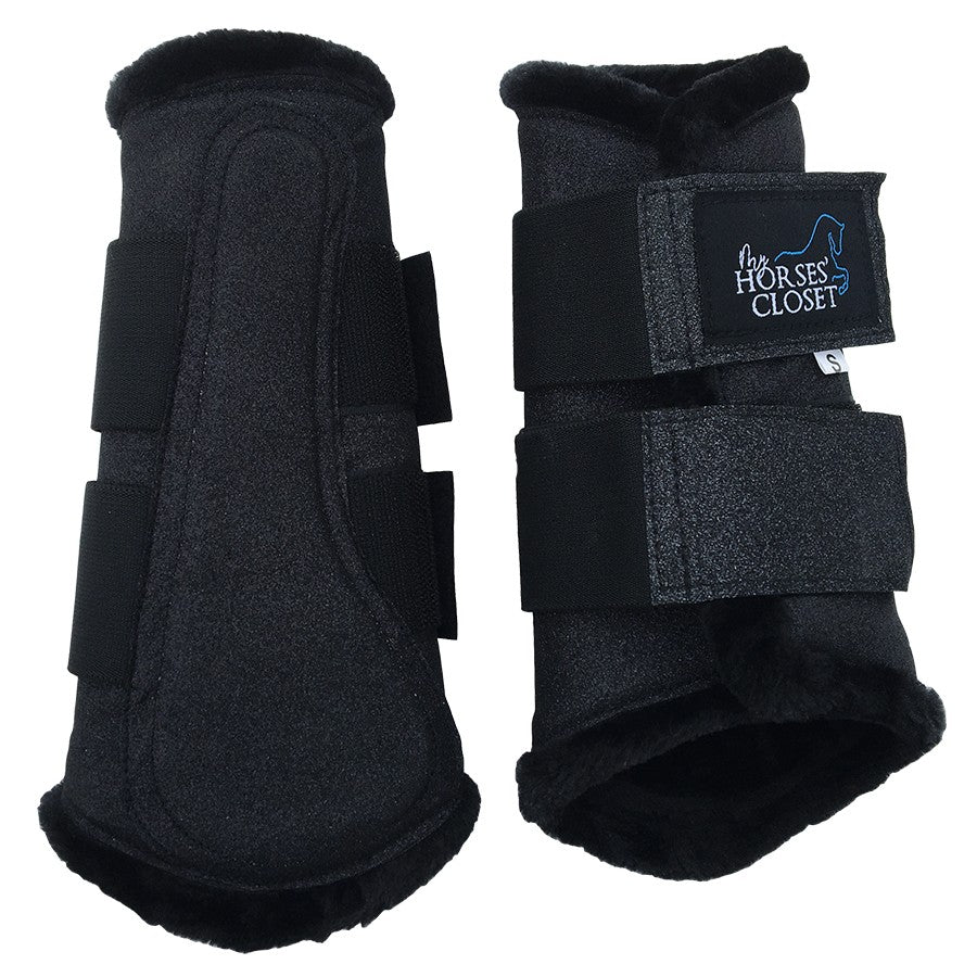 Glitter Sparkly Brushing Boots Carbon Black
