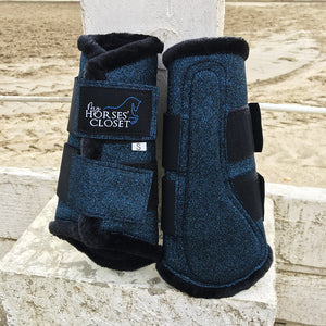 🆕 Midnight Blue Sparkles & Glitter Brushing Boots