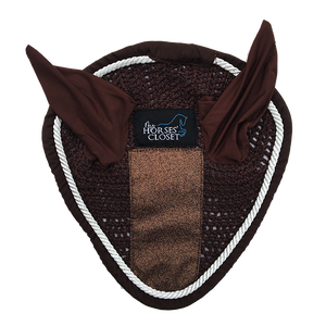 Fly Bonnet with Glitter & Sparkles - Copper Brown Chocolate