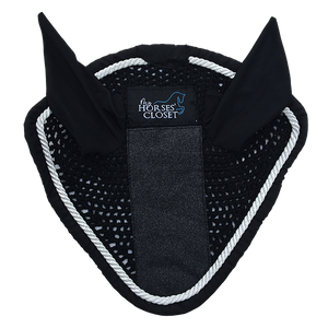 Fly Bonnet with Glitter & Sparkles - Carbon Black