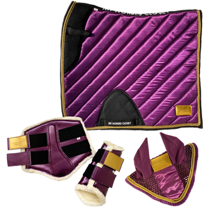 🆕 Amboise Collection ⚜️ Luxurious Dressage Matchy Matchy Set Plum Purple