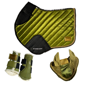 Amboise Collection Luxurious Jumping AP Matchy Matchy Set Olive Green