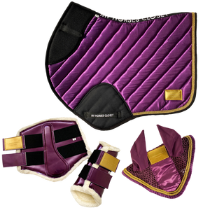 Amboise Collection Luxurious Jumping AP Matchy Matchy Set Plum Purple