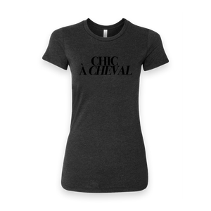 Chic à Cheval - T-shirt Women's - Black Heather