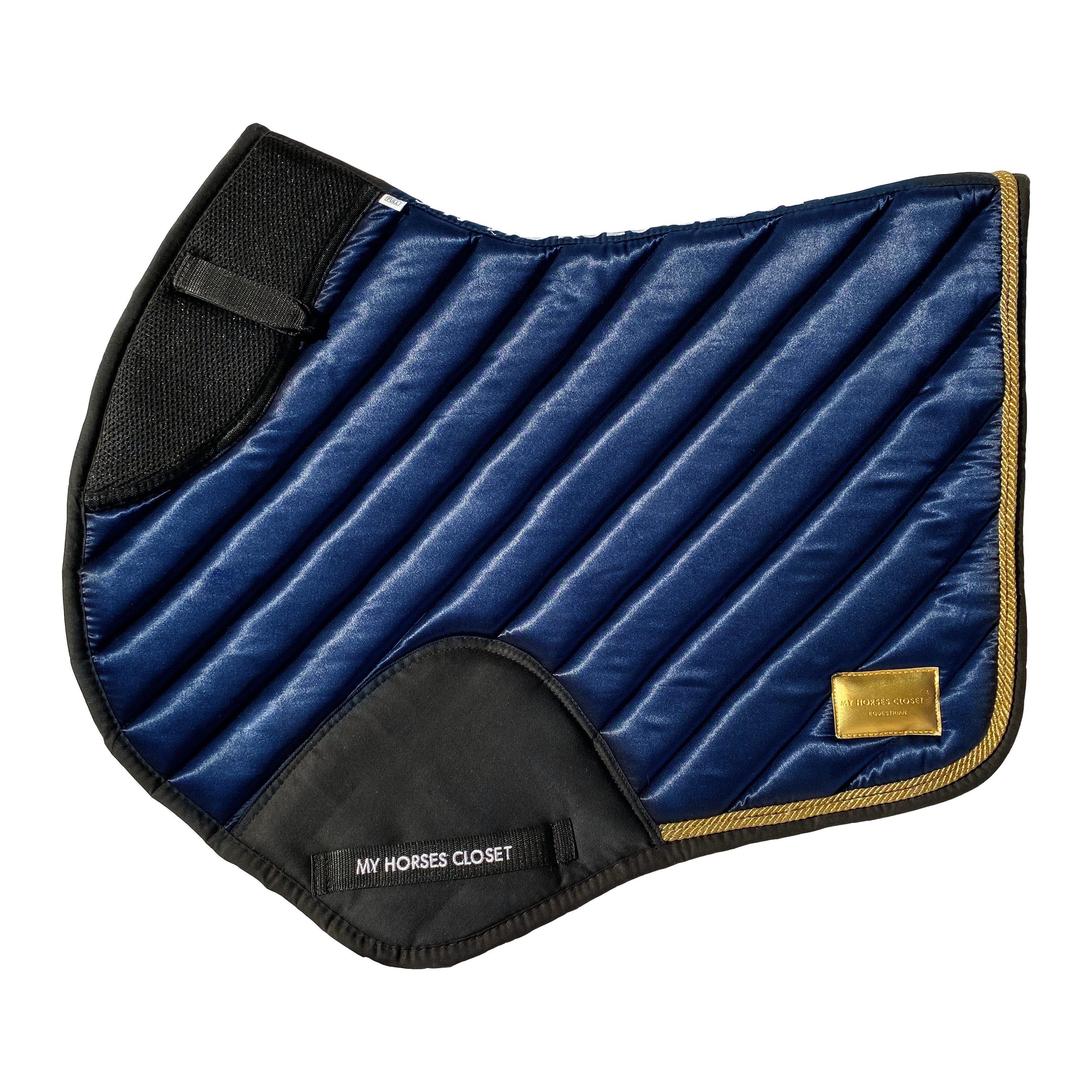 🆕 Jumping AP Saddle Pad Satin Amboise Collection ⚜️ Midnight Blue