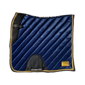 Satin Mesh Dressage Saddle Pad Amboise Midnight Blue