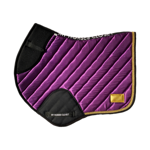 🆕 Jumping AP Saddle Pad Satin Amboise Collection ⚜️ Plum Purple