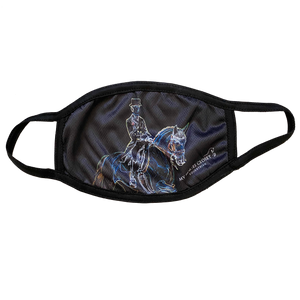 Equestrian Dressage Print Face Mask