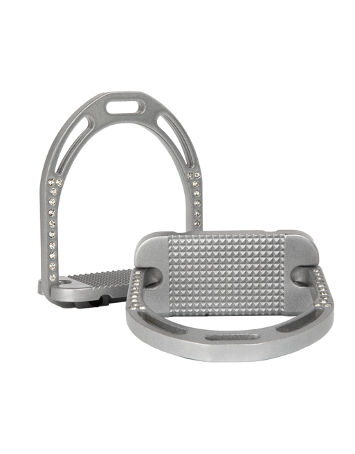 Alu Stirrups Deluxe Design Set - Silver Metallic