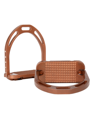 Alu Stirrups Design Set Crystal on the side - Copper Metallic