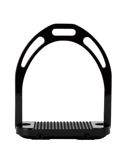 Alu Stirrups with Crystal Glossy Black