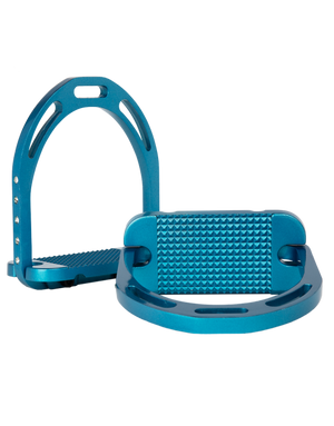 Alu Stirrups Design Set Crystal on the side - Turquoise Metallic