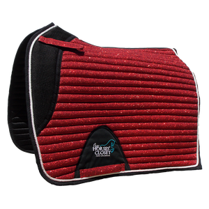 Glitter Mesh Sparkly Dressage Saddle Pad Cherry Red