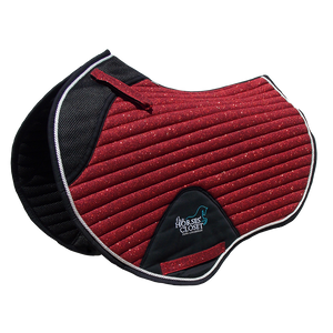 Saddle Pad - Sparkles and Glitter - Jumping/AP - Cherry Red