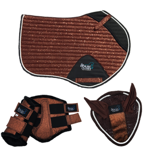 Glitter Sparkly Copper Brown Jumping AP Matchy Matchy Set