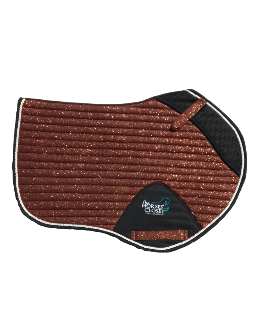 Glitter Sparkly Jumping Saddle Pad Copper Brown