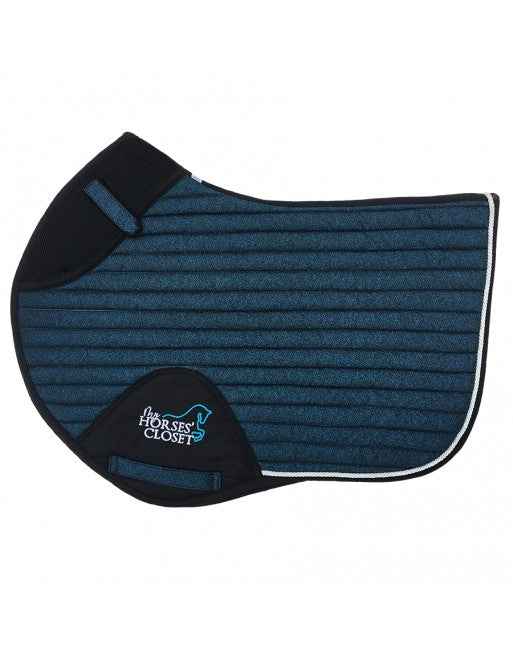 Glitter Mesh Sparkly Jumping Saddle Pad Midnight Blue