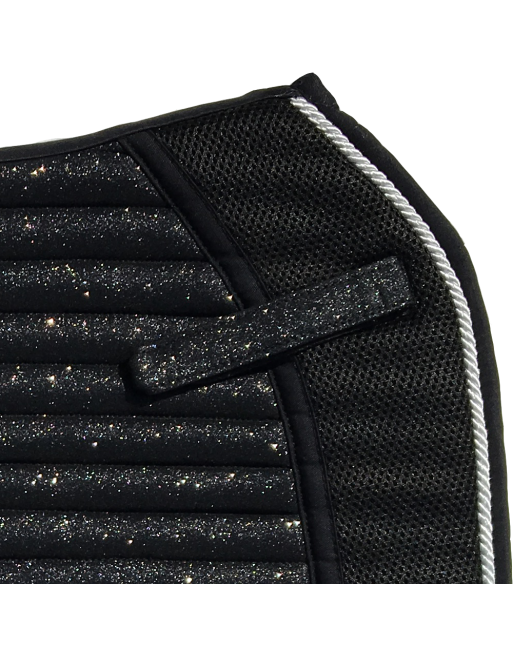 Saddle Pad - Sparkles and Glitter - Jumping/AP - Carbon Black