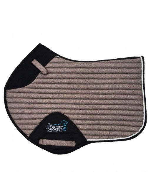 Saddle Pad - Sparkles and Glitter - Jumping/AP - Milk Chocolate & Rose Gold