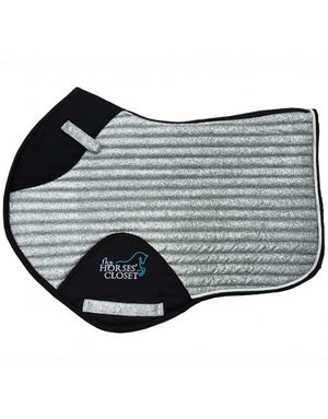 👋 Retiring - Glitter Sparkly Jumping Saddle Pad Silver