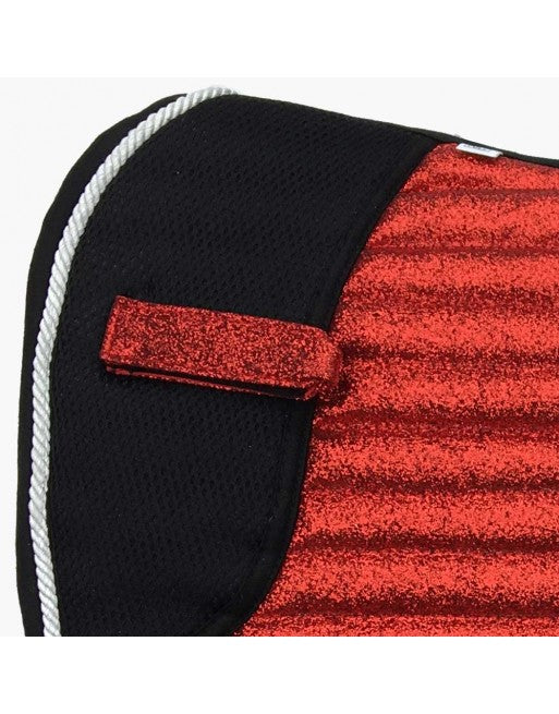Saddle Pad - Sparkles & Glitter - Dressage - Bright Red