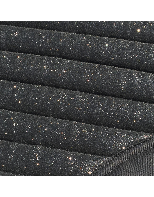 Glitter Mesh Sparkly Dressage Saddle Pad Carbon Black
