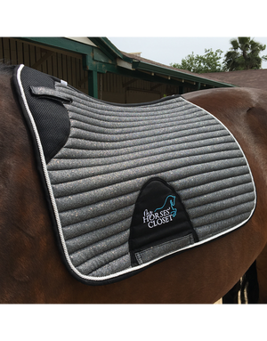 👋 Retiring - Glitter Sparkly Dressage Saddle Pad Charcoal Grey