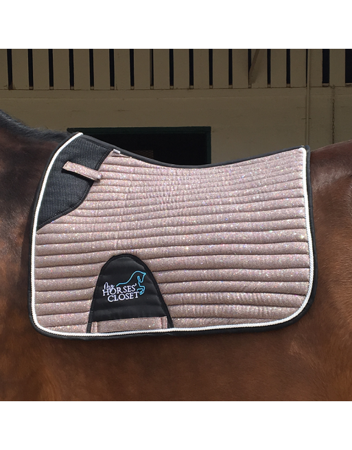 👋 Retiring - Glitter Sparkly Dressage Saddle Pad Choco Rose Gold