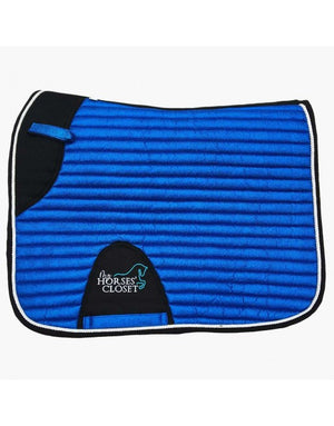 Glitter Mesh Sparkly Dressage Saddle Pad Royal Blue