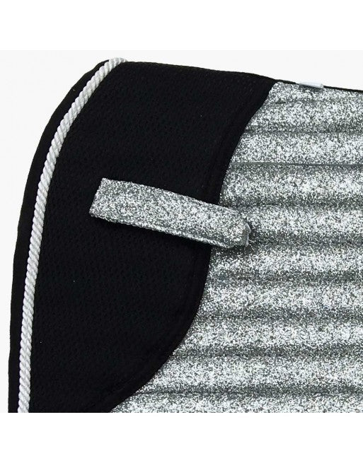 👋 Retiring - Glitter Sparkly Dressage Saddle Pad Silver