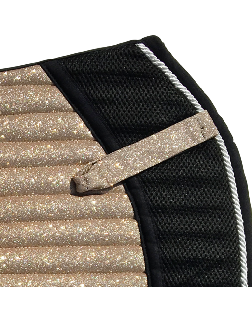 Saddle Pad - Sparkles and Glitter - Jumping/AP - Gold Champagne