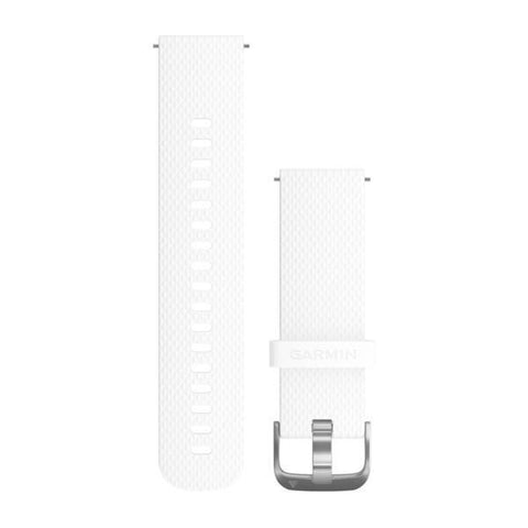 Garmin Quick Release Band 20mm, White silicone with silver hardware*
