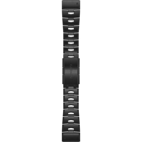 Garmin QuickFit 26 Vented Titanium Bracelet with Carbon Grey DLC Coating