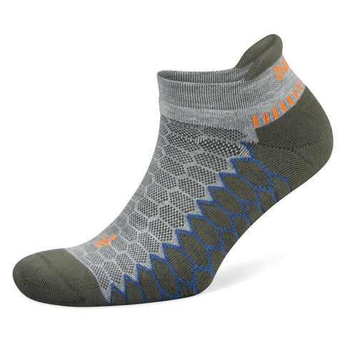 Balega Silver No Show Socks, Mid Grey