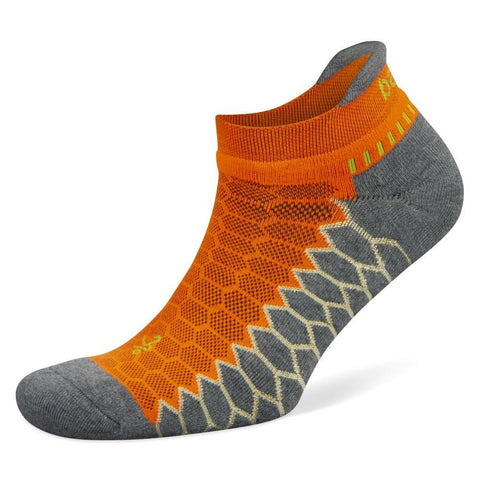 Balega Silver No Show Socks, Orange