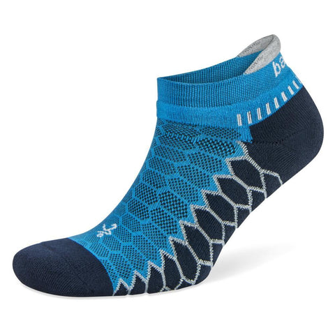 Balega Silver No Show Socks, Bright Turquoise