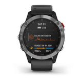 Garmin Fenix 6 Solar, Silver with Black Band