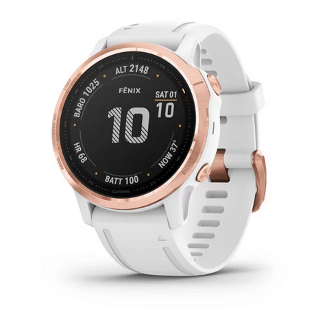 NEW * Garmin Fenix 6S Pro Rose Gold/White
