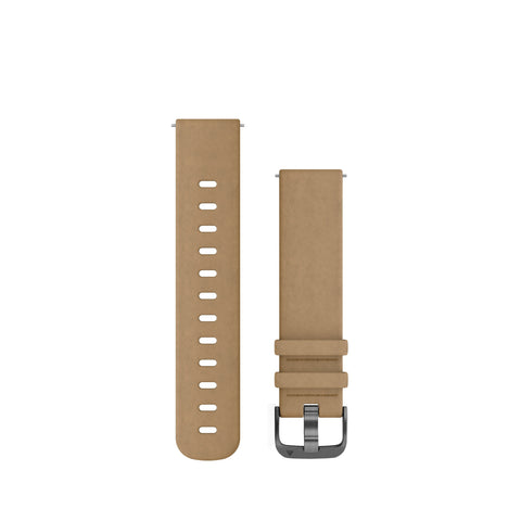 Garmin Quick Release Band 20mm - Tan Suede