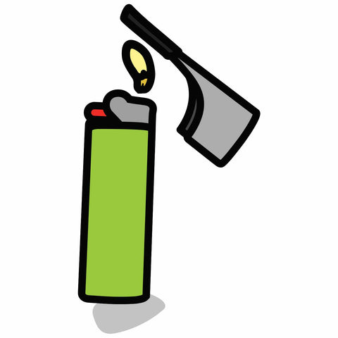 Clean the tip of your Kasher. Heating the tip using the lighter's flame, and then wipe residue off with a paper towel.