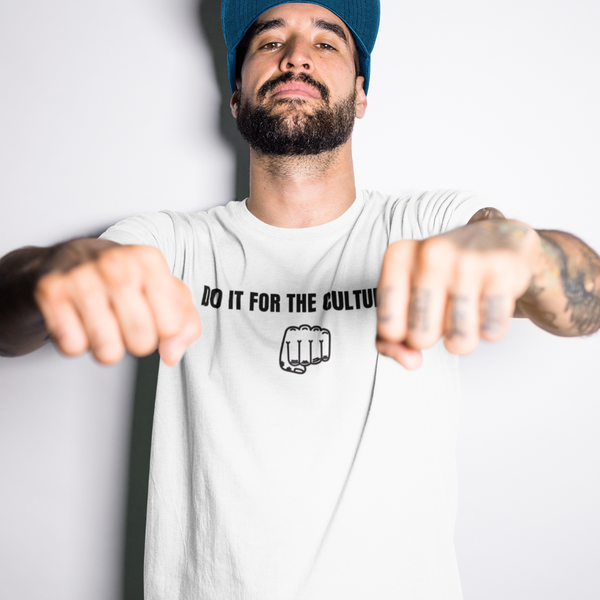 DO IT FOR THE CULTURE Fist - Mens W 100% Organic Cotton T-Shirt