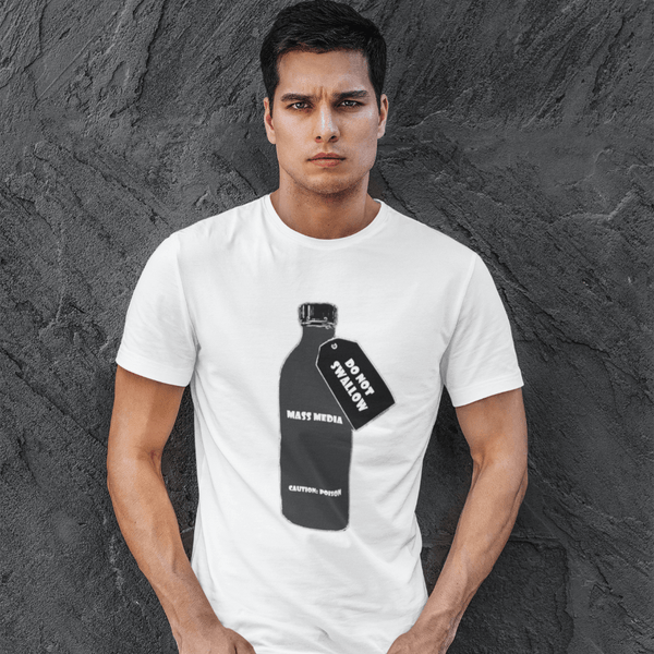 DO NOT SWALLOW Mass Media - Mens W 100% Organic Cotton T-Shirt