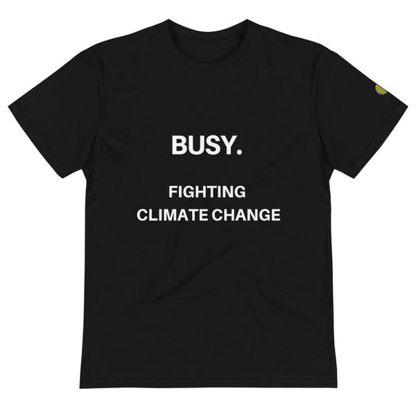 Busy. Fighting Climate Change - Mens B Sustainable T-Shirt yosicollective.myshopify.com