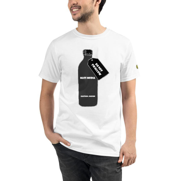 DO NOT SWALLOW Mass Media - Mens W 100% Organic T-Shirt yosicollective.myshopify.com