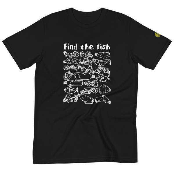 FIND THE FISH Polluted Ocean Awareness - Mens B 100% Organic T-Shirt yosicollective.myshopify.com