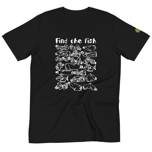 FIND THE FISH Polluted Ocean Awareness - Womens B 100% Organic T-Shirt yosicollective.myshopify.com