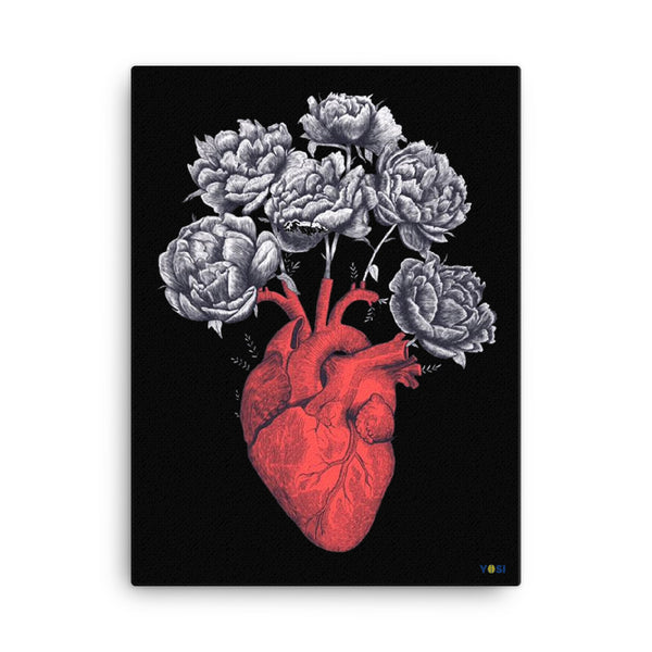"""Love Blooms"" Eco-Friendly Canvas Art yosicollective.myshopify.com"