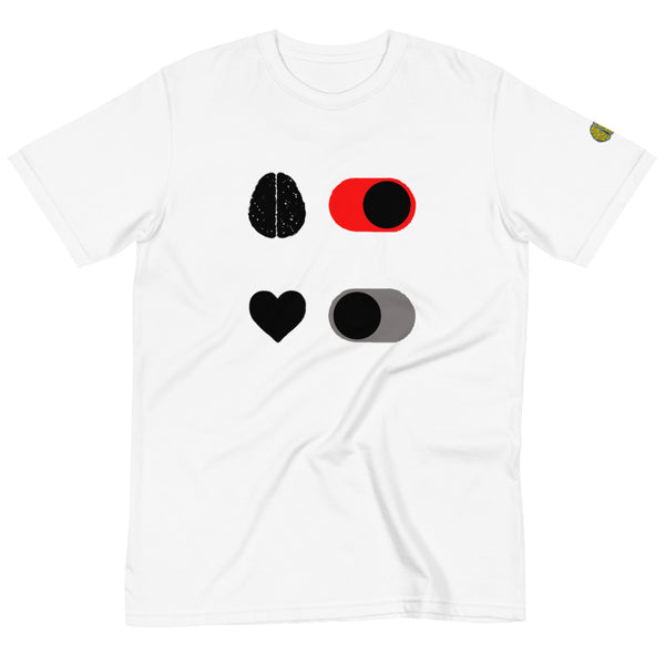 Head ON Heart OFF - Mens W 100% Organic T-Shirt yosicollective.myshopify.com